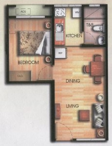 Bali Oasis One Bedroom Layout