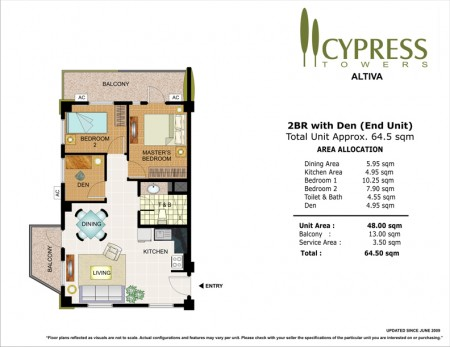 Cypress Towers 2 Bedroom with Den