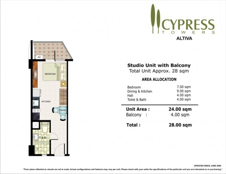 Cypress Towers Studio Unit