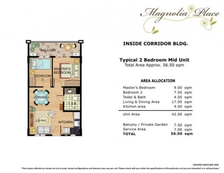 Magnolia Place 2 Bedroom Floor Plan
