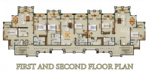 Bacarra Villas 1st and 2nd floor plan