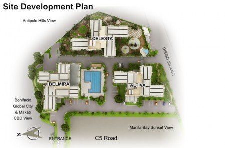 Cypress Towers Site Map